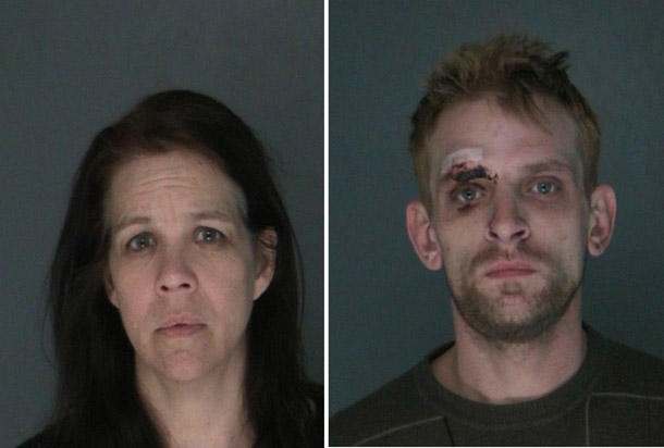 Couple arrested in jewelry store thefts. Kristie Laird (L) and Daniel Cimolonski (R)
