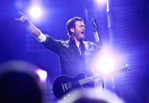 Blake Shelton played Nikon at Jones Beach Theater on Sunday, July 21, 2013.
