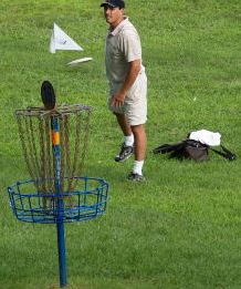 Why play regular golf when you can play disc golf?