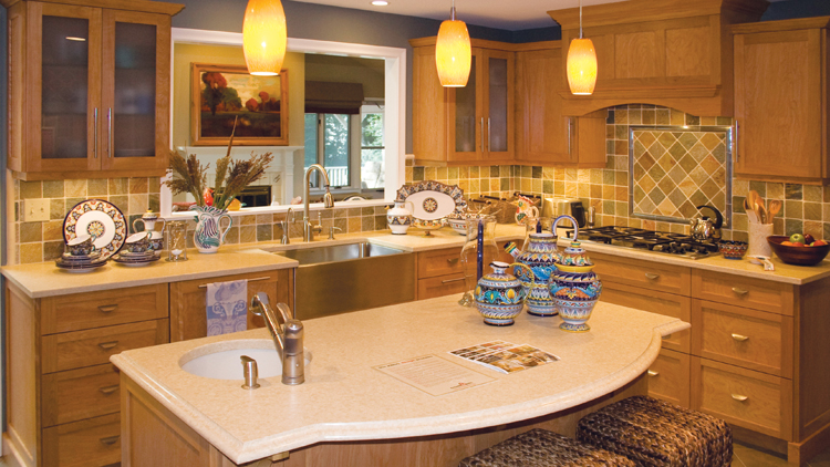 Using the full potential of your kitchen space is part and parcel of a successful redesign.