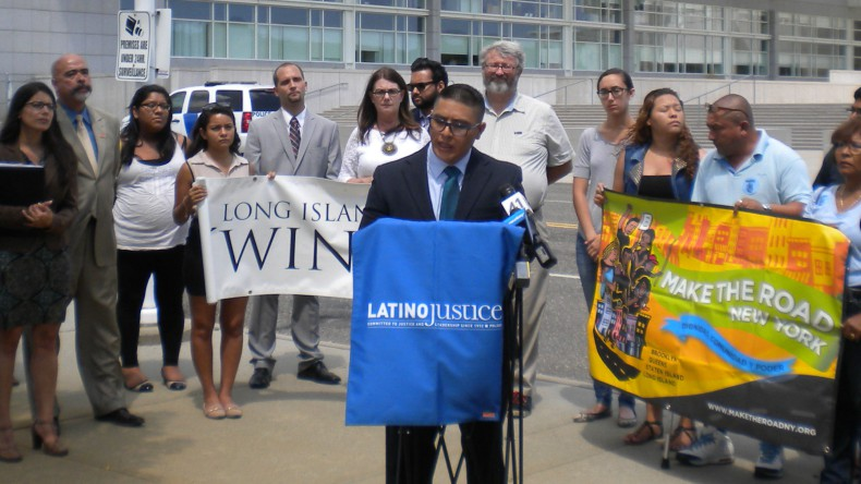 Joselo Lucero, brother of slain Ecudorean immigrant Marcelo Lucero, joined a group of advocacy groups in calling for federal authorities to take over the investigation into the unsolved 2010 homicide of Jose Fermin Sanchez.