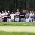 Phil Mickelson putting at Bethpage Black during The Barclays tournament in 2012. (Kevin Kane/Long Island Press)