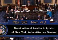 The U.S. Senate confirmed Loretta Lynch as the next U.S. Attorney General on Thursday.