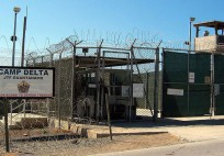 The entrance to Camp 1 in Guantanamo Bay's Camp Delta. The base's detention camps are numbered based on the order in which they were built, not their order of precedence or level of security. (Photo by Kathleen T. Rhem)