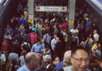 Long Island Rail Road riders packed the Jamaica station