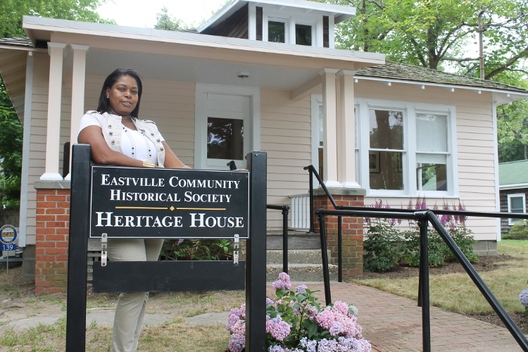 Georgette Grier-Key of the Eastville Community Historical Society in Sag Harbor. (Rashed Mian/Long Island Press)